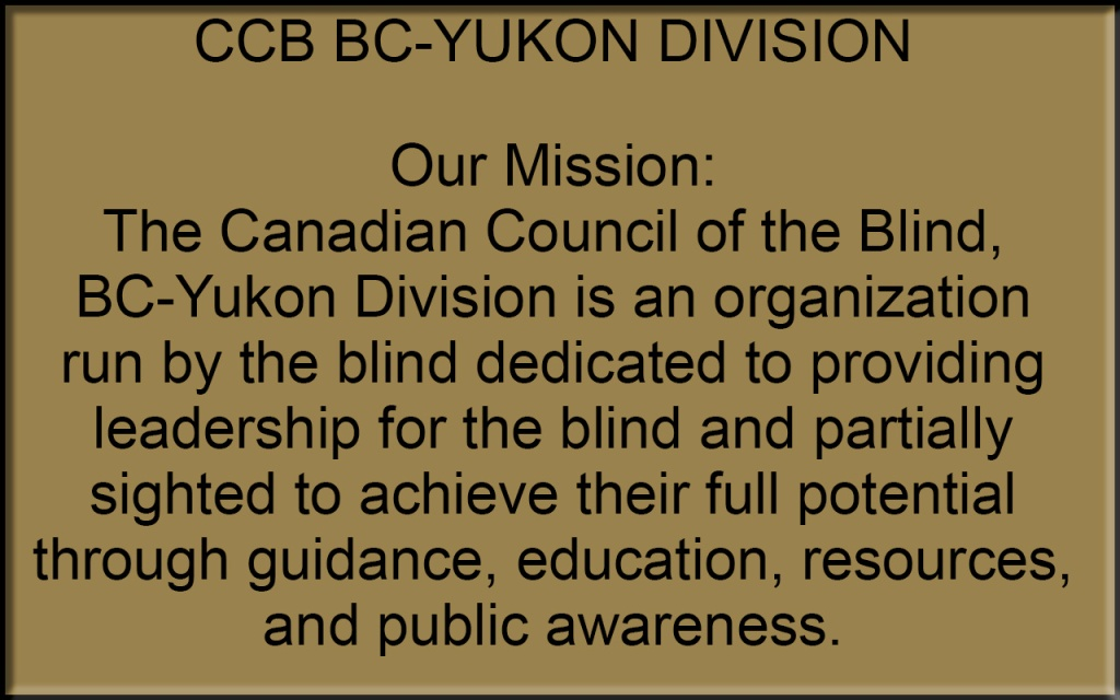CCB BC-Yukon Mission Statement